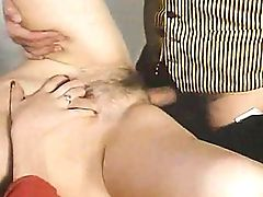 Older woman big tits hairy pussy