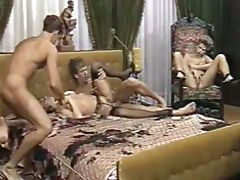 Vintage cumshot on boobs